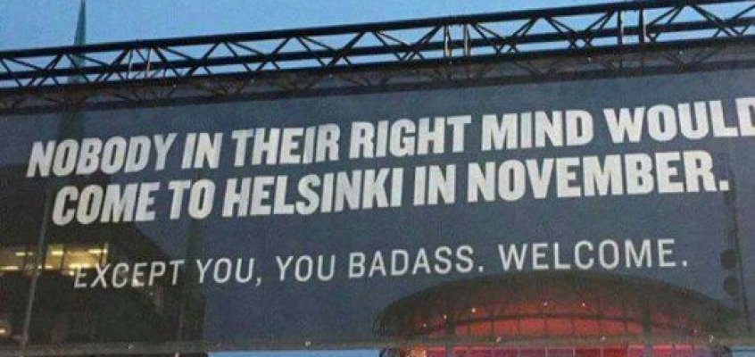 Fantastic billboard in Helsinki