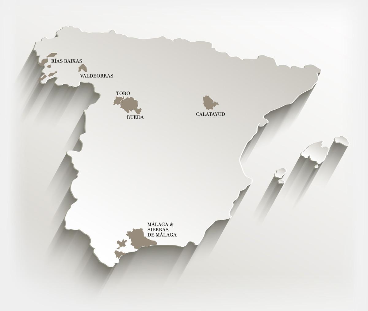 Regionesa Vinícolas de España
