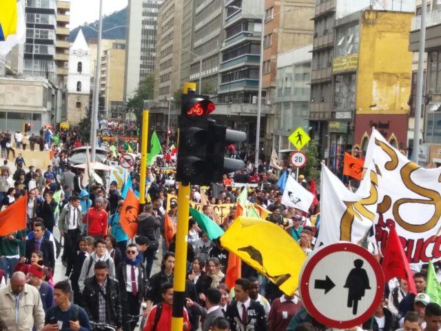 Movilización en Bogotá el 8 de septiembre