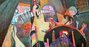 El juramento, Jorge Santana, pintura