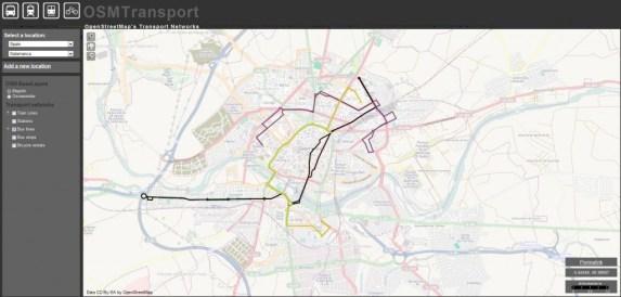 transporte OpenStreetMap