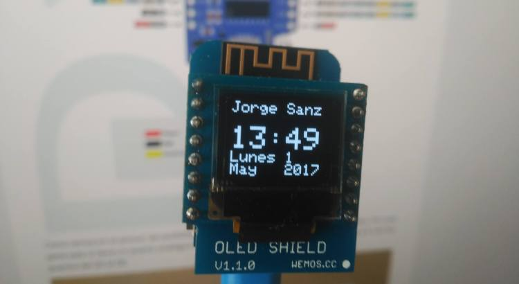 Reloj Digital WeMos ESP8266 Wifi