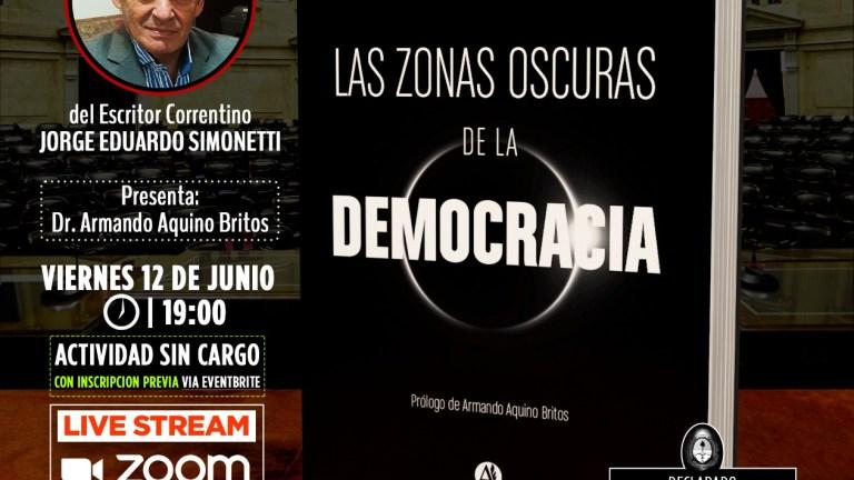 """PRESENTACIÓN MI ÚLTIMO LIBRO """"LAS ZONAS OSCURAS DE LA DEMOCRACIA"""