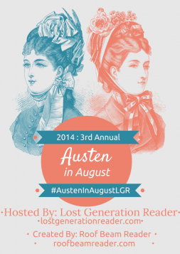 Austen in August 2014 Badge created by Jorie in Canva