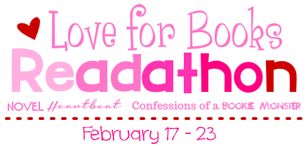 Love for Books Readathon badge provided by A Novel Heartbeat.