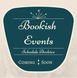 Bookish Events badge created by Jorie in Canva