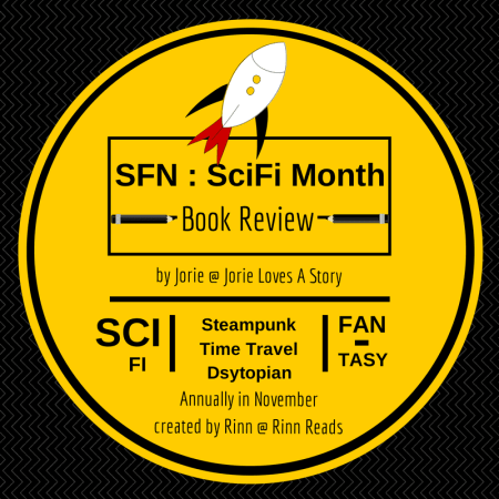 SFN Book Review Badge created by Jorie in Canva
