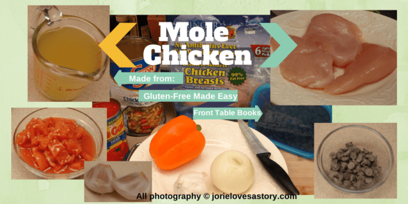 Mole Chicken Ingredients by Jorie in Canva
