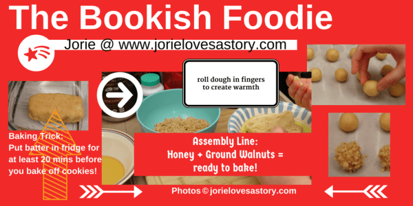 The Bookish Foodie Part 5 Collage by Jorie in Canva (New Year's Eve)