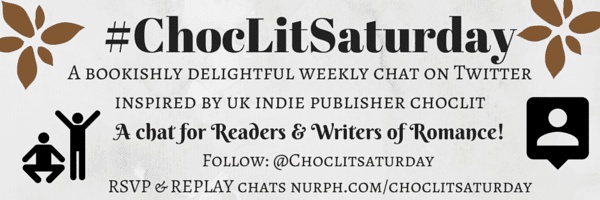 #ChocLitSaturday Chat Banner created by Jorie in Canva