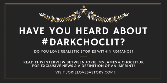#DarkChocLit Convo badge created by Jorie in Canva.