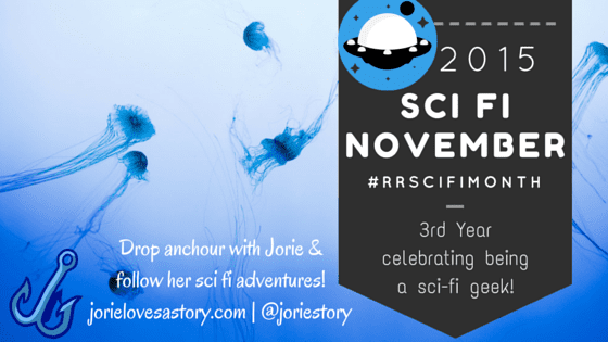 Sci Fi November 2015 badge created by Jorie in Canva.