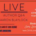 LIVE Author Q&A badge created by Jorie in Canva. Permission granted by author to use his photo for promoting the live event.