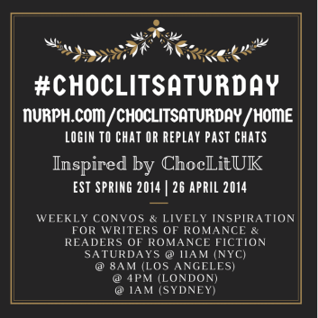 #ChocLitSaturday badge created by Jorie in Canva.