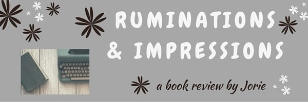 Ruminations & Impressions Book Review Banner created by Jorie in Canva.