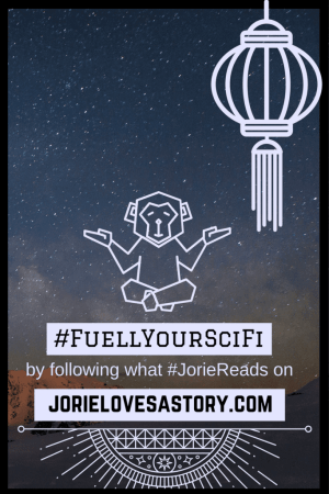 #FuellYourSciFi badge created by Jorie in Canva.