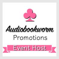 Audiobookworm Promotions Event Host badge provided by Audiobookworm Promotions