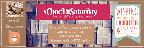#ChocLitSaturday banner made by Jorie in Canva.