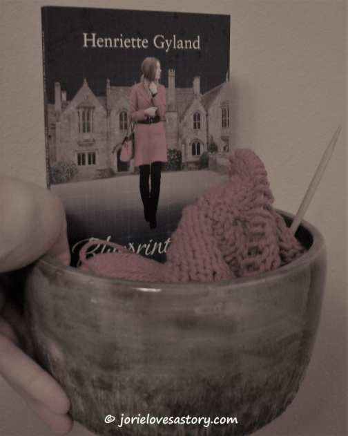 Knitting & #PocketChocLit. Book Photography Credit: Jorie of jorielovesastory.com.
