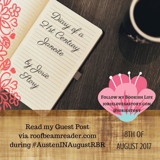 Guest Blogger for Austen In August 2017 badge created by Jorie in Canva.