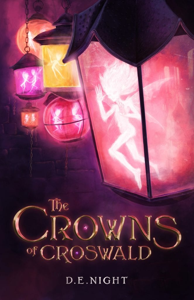 "#WaitingOnWednesday No.3 | ""The Crowns of Croswald"" (Book No.1 of the Croswald series) by D.E. Night (aka. Jorie's magically lovely mystery #bookmail  which gave her this beautifully fantastical story!)"