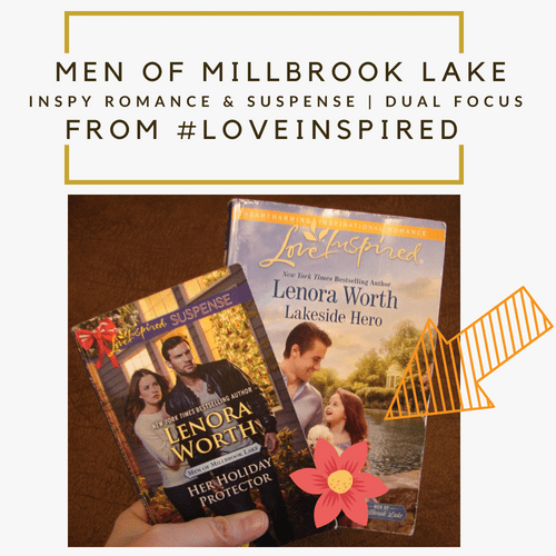 Men of Millbrook Lake series by Lenora Worth Photography Credit: Jorie of jorielovesastory.com. Photo edits and collage created in Canva.