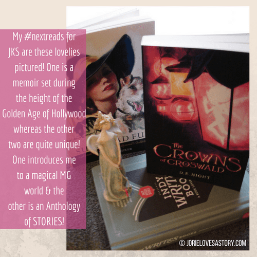 Such Mad Fun, The Crowns of Croswald and Indy Writes Books bookmail. Book Photography Credit: Jorie of jorielovesastory.com. Photo edits and collage created in Canva.