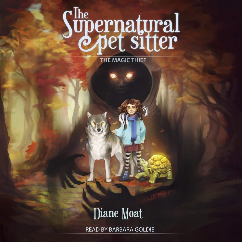 "#SpooktasticReads Audiobook Review | ""The #Supernatural Pet Sitter"" by Diane Moat (narrated by Barbara Goldie) A #MiddleGrade #paranormal tale of friendship between a gnome & a witch!"