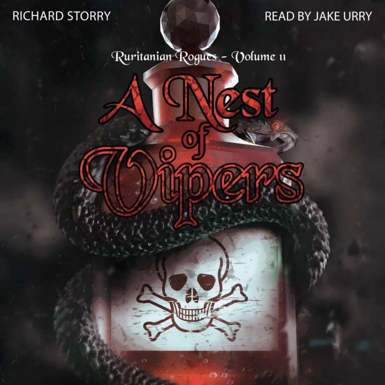 "#SpooktasticReads Audiobook Review | ""A Nest of Vipers"" (Ruritanian Rogues series, No.2) by Richard Storry, narrated by Jake Urry [an audiobook I began during #FraterfestRAT]"