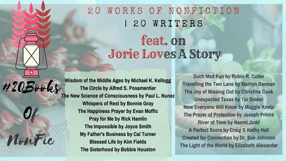 #20BooksOfNonFiction banner made by Jorie in Canva.