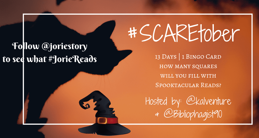 #Scaretober banner created by Jorie via Canva. Photo Credit: Unsplash Public Domain Photographer Sašo Tušar