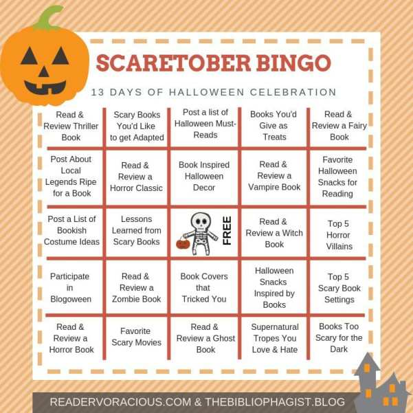 Scaretober created by Reader Voracious and The Bibliophagist. Bingo Card being used with permission.