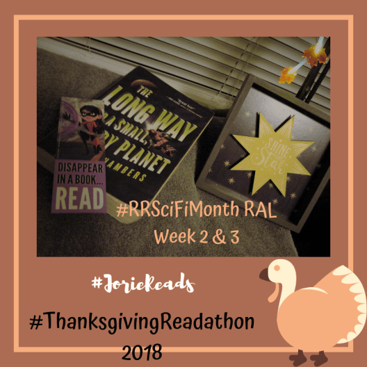 #ThanksgivingReadathon Small Angry Planet RAL badge created by Jorie in Canva. Photo Credit jorielovesastory.com