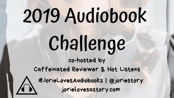 2019 Audiobook Challenge banner created by Jorie in Canva.