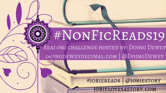 #NonFicReads19 banner created by Jorie in Canva.