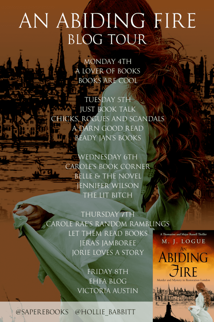 An Abiding Fire blog tour banner provided by Sapere Books.