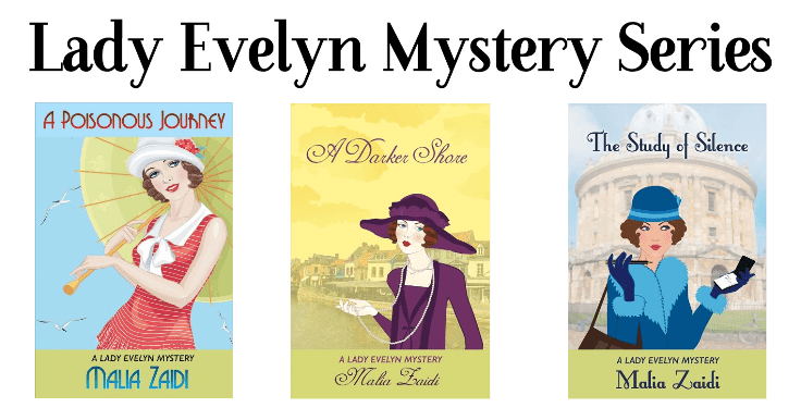 Lady Evelyn Mysteries series banner provided by HFVBTs