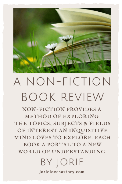 Non Fiction Book Review banner created by Jorie in Canva.
