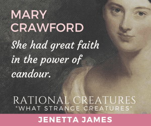 What Strange Creatures (short story) by Jenetta James (part of Rational Creatures anthology) promo banner used with permission.