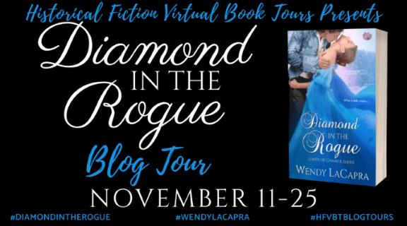 Diamond in the Rogue blog tour banner via HFVBTs