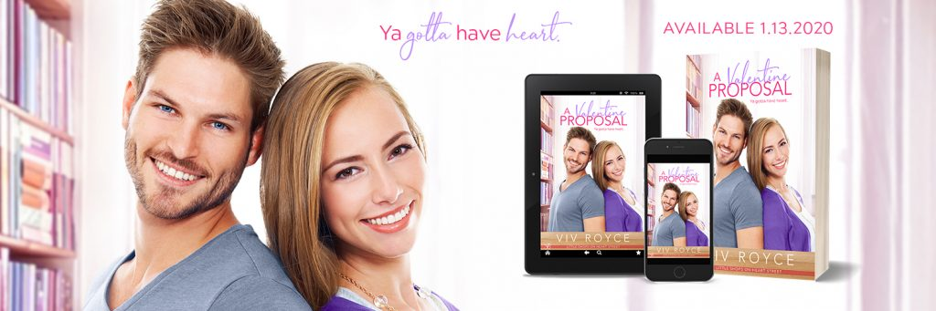 A Valentine Proposal promo teaser banner provided by the author Viv Royce and is used with permission.