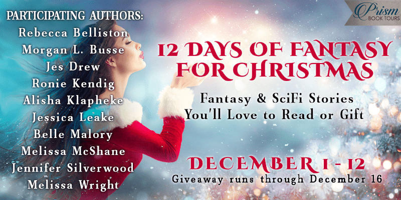 #FantasyForChristmas banner provided by Prism Book Tours.