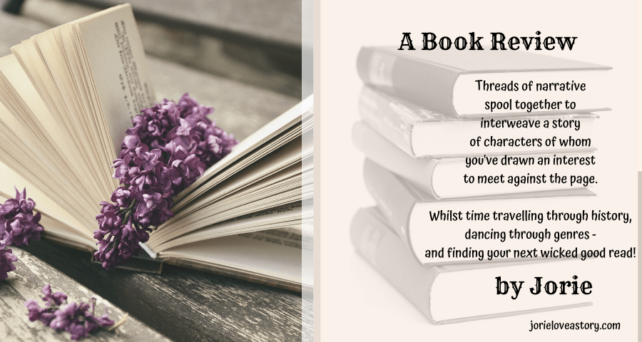 Book Review banner created by Jorie in Canva.