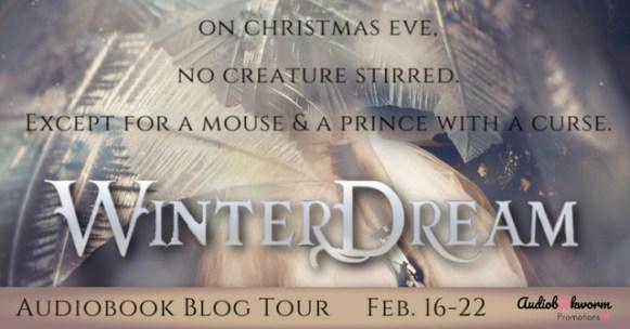 Winter Dream audiobook blog tour banner via Audiobookworm Promotions.