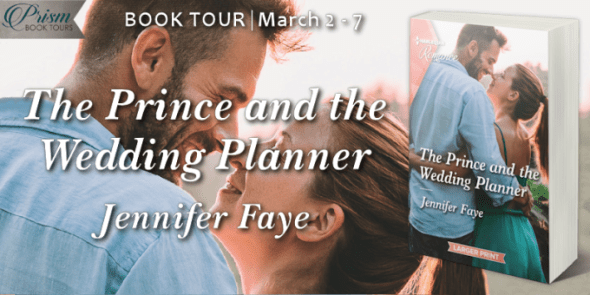 The Prince and the Wedding Planner blog tour banner provided by Prism Book Tours and is used with permission.