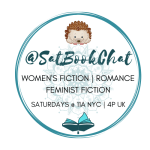 #SatBookChat logo badge created by Jorie in Canva.