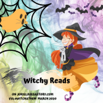 #WitchyReads badge for #WitchAThon created by Jorie in Canva.