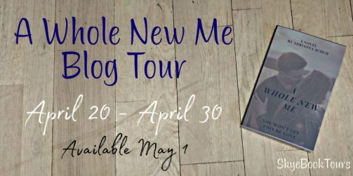A Whole New Me banner provided by Skye Book Tours and is used with permission.
