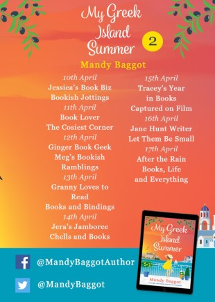 My Greek Island Summer Blog Tour Banner provided by Head of Zeus and is used with permission.