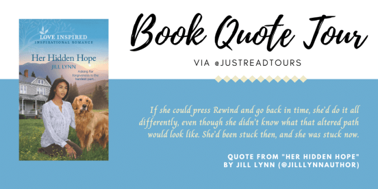 "Book Quote Tour for ""Her Hidden Hope"" graphic created by Jorie in Canva."